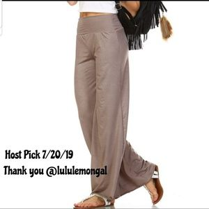 Pants - 🔥HP🔥 NEW M - 3X Mocha Wide Leg Palazzo Pants